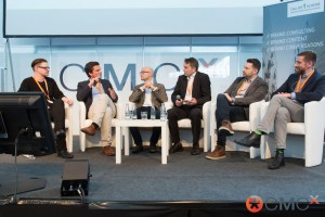 Panel: Wie viel Potenzial hat Native Advertising im Content-Marketing? Daniel Mohr, Kolja Kleist, Steffen Hopf, Frank Puscher, Daniel Holm und Michael Birnstock v.l