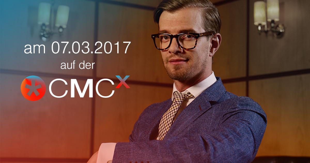 Joko Winterscheidt erklärt sein Content-Marketing auf der CMCX-Bühne