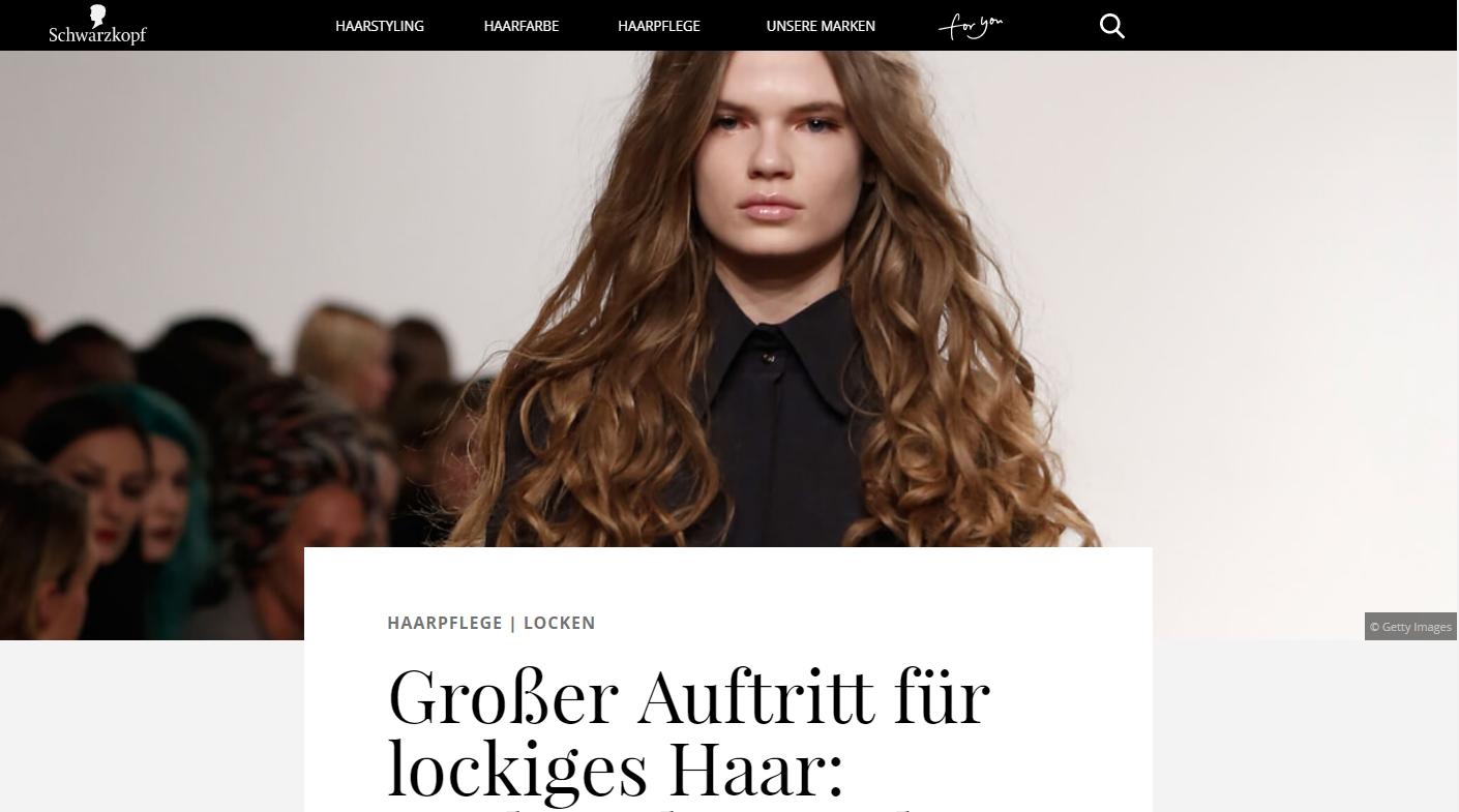 Content-Marketing Artefakt schwarzkopf.de: Henkel gibt CMCX-Comeback
