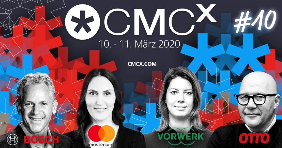 🎤 Vier CMCX-Top-Speaker 2020: Bosch, OTTO, Mastercard und Vorwerk stellen ihre Marketing-Methoden & Cases vor